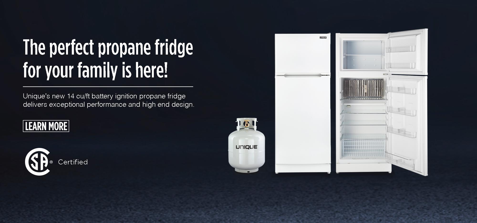 Propane off-grid fridge by Unique Appliances